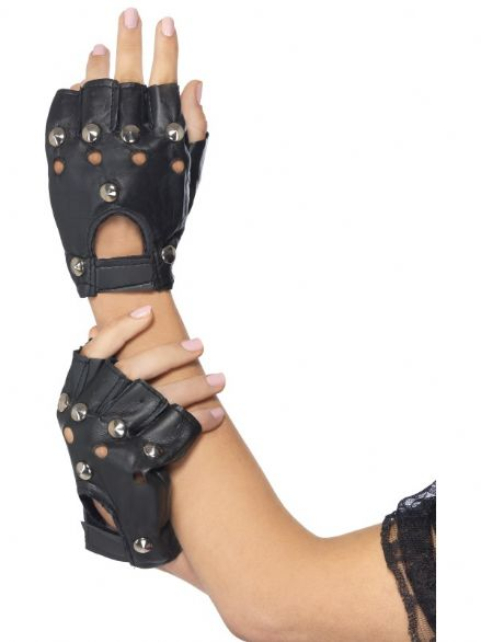 1980's Studded Punk Gloves